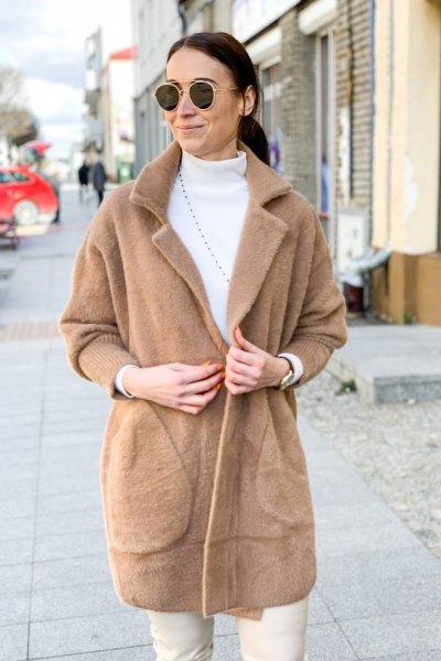 Płaszcz alpaka camel 4