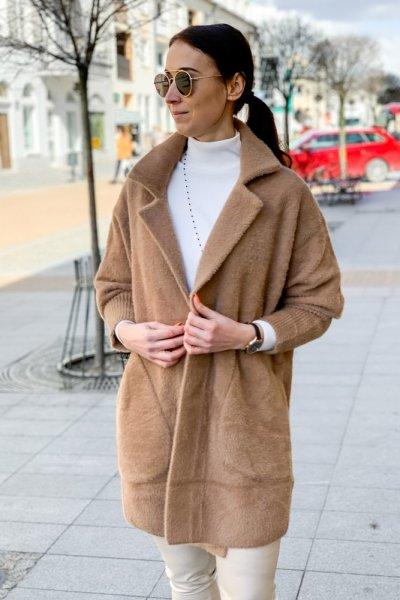 Płaszcz alpaka camel 5