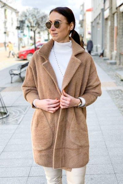 Płaszcz alpaka camel 6