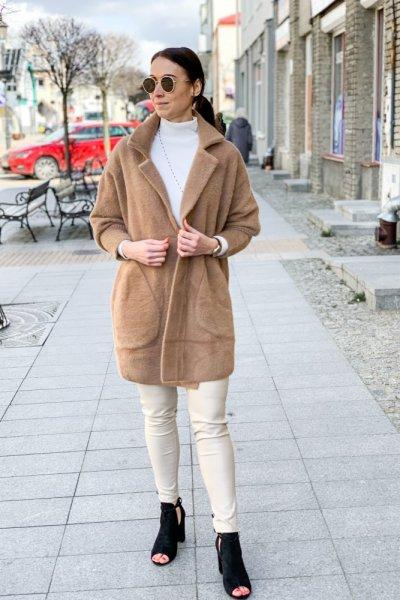 Płaszcz alpaka camel 7