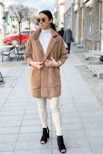 Płaszcz alpaka camel 8
