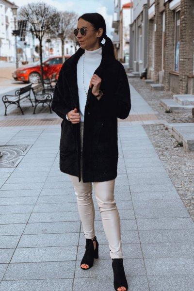 Płaszcz alpaka czarny 2