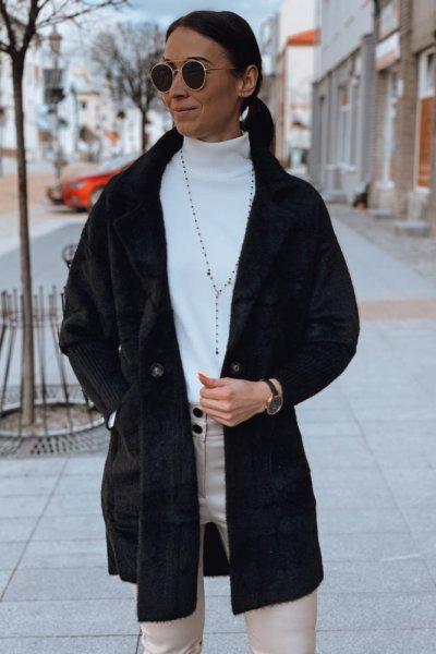 Płaszcz alpaka czarny 4