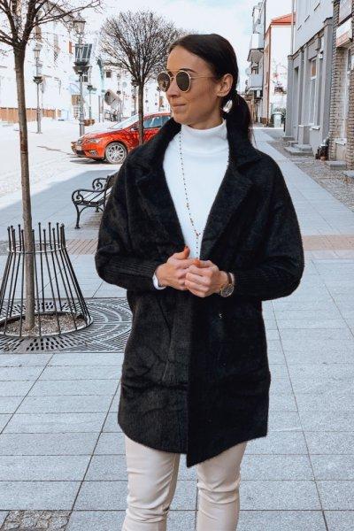 Płaszcz alpaka czarny 5