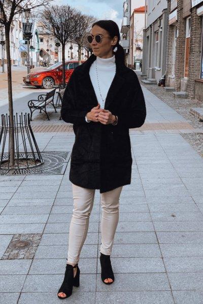 Płaszcz alpaka czarny 6