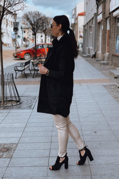 Płaszcz alpaka czarny 7