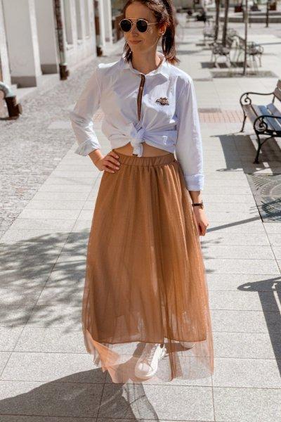 Spódnica plisowana tiul