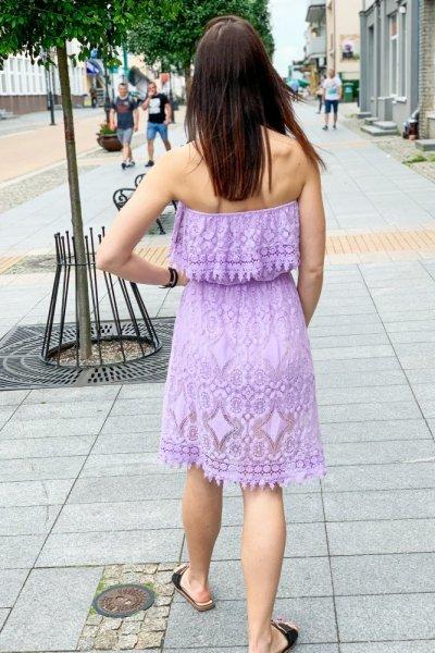 Sukienka HISZPANKA KORONKA LILA 3