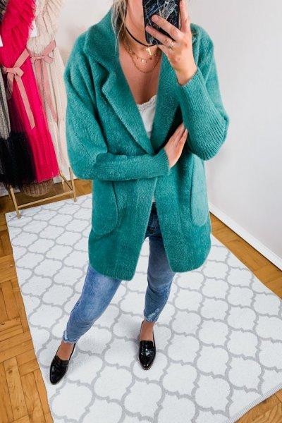 Płaszcz alpaka zielona 3