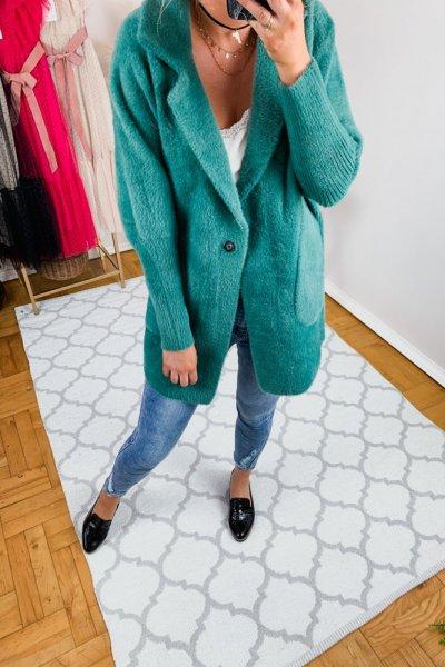 Płaszcz alpaka zielona 4