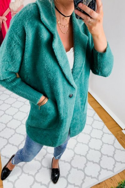 Płaszcz alpaka zielona 6