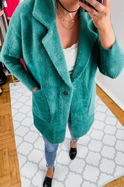 Płaszcz alpaka zielona 7