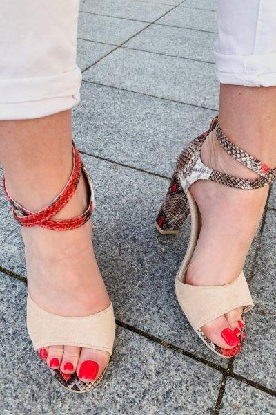 sandały viki beż /wąż czerwony 4