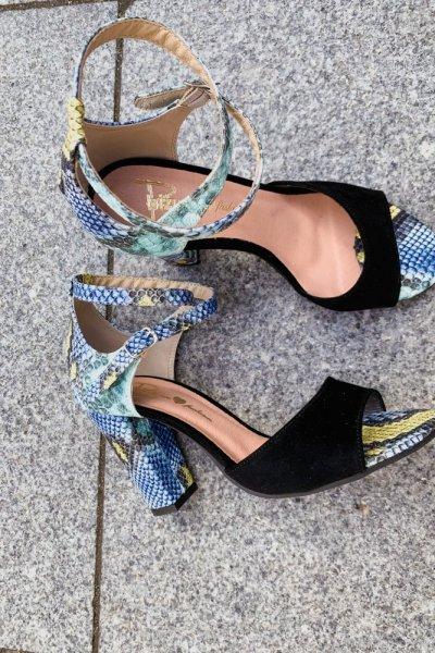 sandały viki czarny/ wąż niebieski 1