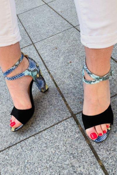 sandały viki czarny/ wąż niebieski 2