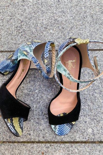 sandały viki czarny/ wąż niebieski 8