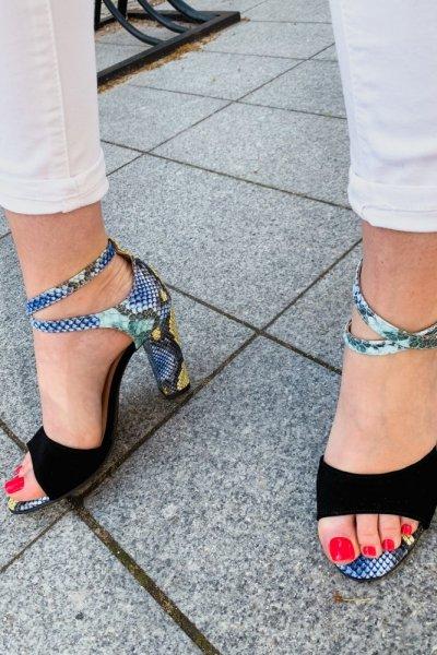 sandały viki czarny/ wąż niebieski 11