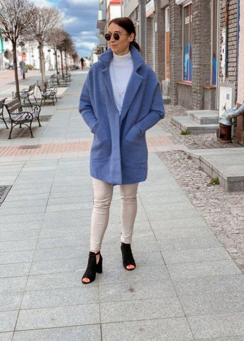 Płaszcz alpaka niebieska